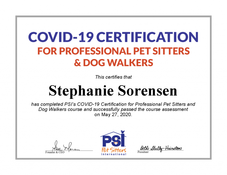 Certificate of Completion for Covid-19